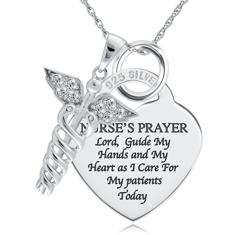 A Nurse S Prayer Necklace Pendant 925 Sterling Silver