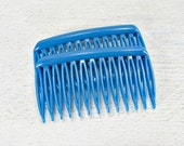 Vintage Royal Blue Hair Comb Set, Small Side Hair Combs, GOODY Plastic Hair Combs, Decorative Combs, 1970s Hair Accessories for Women Girls