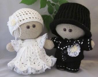 Custom order! Crochet Bride and Groom  Amigurumi Baby Doll, Wedding couple, Cuddly Baby Doll, Soft Toy, Waldorf Doll, Stuffed Doll, Rag Doll