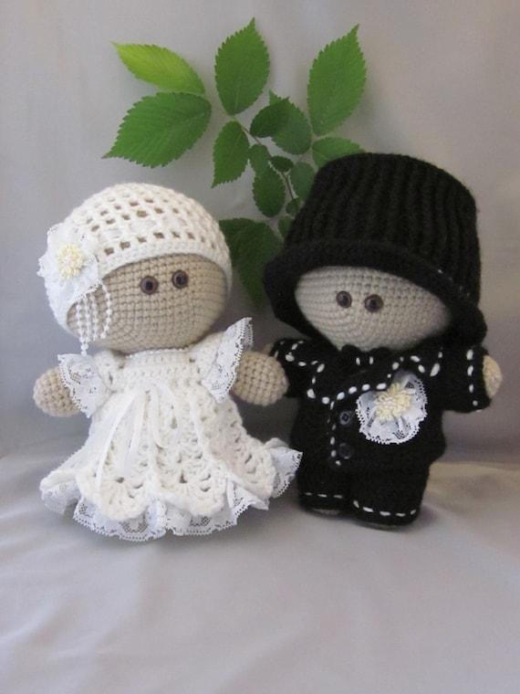 Custom order Crochet Bride and Groom Amigurumi Baby Doll