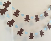 Teddy Bear Picnic Birthday Decorations - Teddy Bear's Picnic Garland - Teddy Bear Baby shower Decor- Teddy Bear 1st Birthday decor