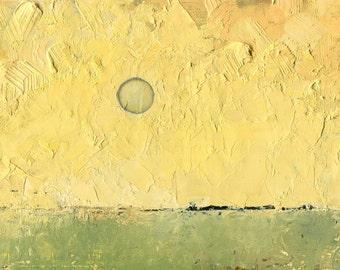 Here, the Sun — Original Oil Painting, Landscape Painting, Abstract Landscape, Original Painting, Abstract Oil Painting, Fine Art, 5 x 7