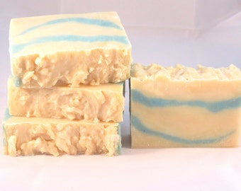Cottage Breeze Scented Luxury Hot Process Rustic Soap with Shea Butter