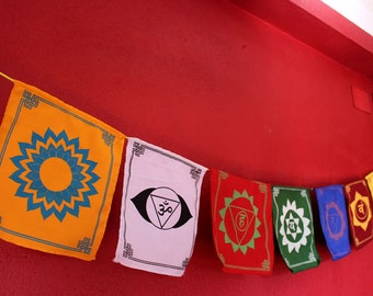 The Seven Chakras Prayer Flags-Special Edition PFLX26