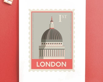 London Stamp print