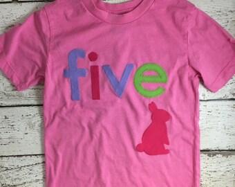 Bunny birthday, bunny shirt, Girl's Birthday Shirt woodland themed party bunny chevron woodgrain pink purple first second whatever birthday