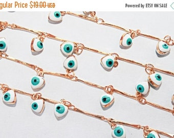 10% off SALE NEW Evil Eye Chain 1 yard Jewelry Findings
