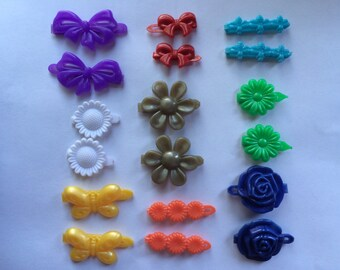 9 Matched Pairs of Hair Clips