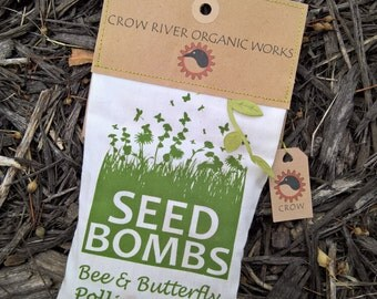 Seed Bombs - Handcrafted Bag of 12 - Crow River Organic Works