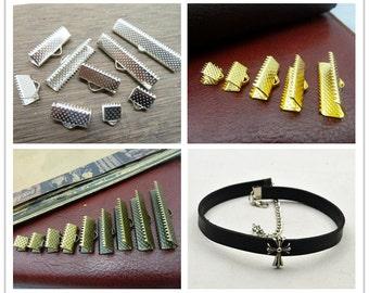 50pcs 6-8-10-12-16-20-22-25-30-35mm  Messenger buckle Leather Fastener Clasps  Ribbon Ends Fastener Clasps Bracelet Components