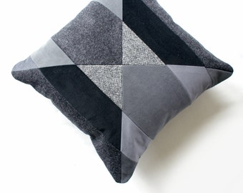 Jazz Stripe Monochrome cushion