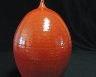 Last Chrome Red Bottle Studio Vase