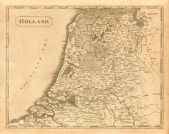 1812 Map of Holland
