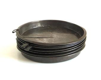"Antique Cake Pans Vintage Bakeware Round Slider Food Photography Props 8"" Ekco 91 or Unmarked"