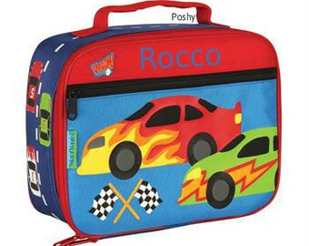 Personalized Boy Lunch Box Stephen Joseph Race Car