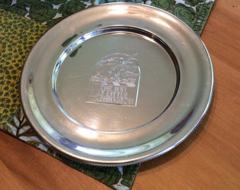 The Inn at Little Washington pewter 6 inch decorative plate by sunandpearl on etsy