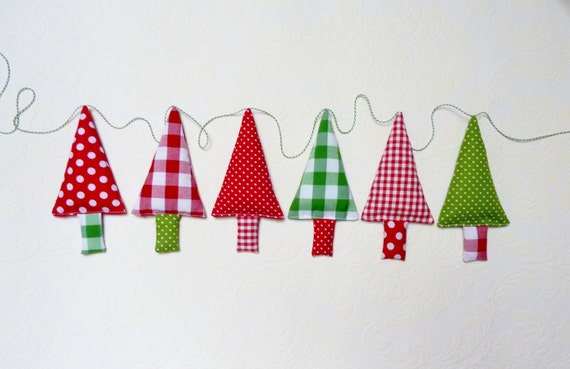 Fabric christmas garland christmas bunting