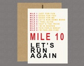 Military Greeting Card - Let's Run Again - Care Package, Boot Camp, Basic Training, Deployment, Military Card, Marines, USMC