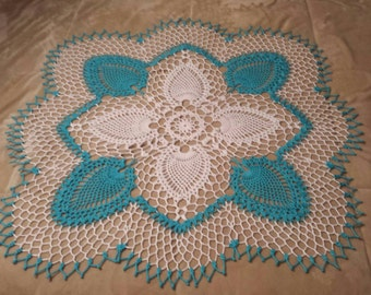 New 33 x 33 handmade doily, center piece