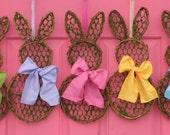 Mini Bunny Wreath - Spring Wreath  - Easter Wreath -