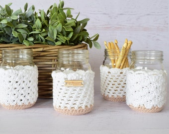 Crochet Pattern Jar Cozies by Yarn Blossom Boutique (Instant Download Digital File)