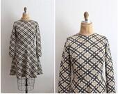 1960s Mod Dress / Kay Windsor / 60s Dress / Knit Dress / Mod Mini Dress / Fit And Flare Dress/ Small S/M