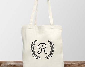 Personalized Single Initial Tote Bag, for her, shopping bag, grocery bag, tote, canvas bag -gfy8104172