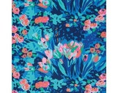 11275 Amy Butler PWAB135 Violette Meadow Blooms in midnight color - 1 yard