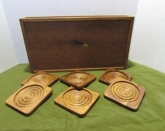 Teakwood Coasters and Tray - Dolphin Teakwood Tray - Wooden serving tray - Coasters - Barware - Mancave