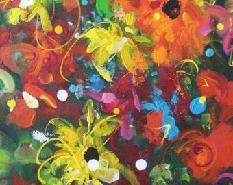 The Garden -  Blank Greeting Card by Australian Artist Christine Donaldson