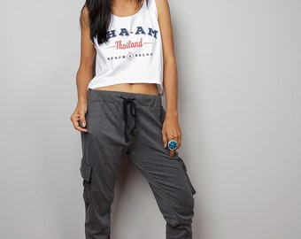 Top Grey pants / Comfy pants / urban style pants : Street Chic Collection no.2