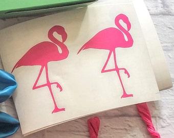 Flamingo Balloon Vinyl Decals set of 12