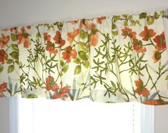 Braemore Gazebo Umber Floral Designer Valance Orange Blue Brown Green Floral Valances 52x15