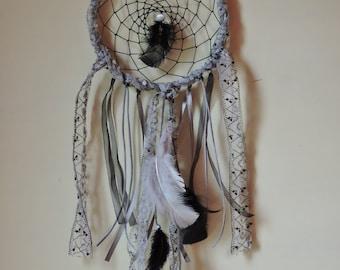 Grey lace dreamcatcher
