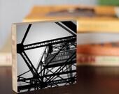 Tacoma, Bridge, City, Washington, Pacific northwest, Iron, black and white, water, seattle, urban, wall art, living room