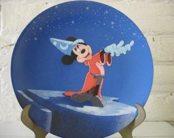 Vintage Disney Collector Plate - Mickey - Sorcerer's Apprentice