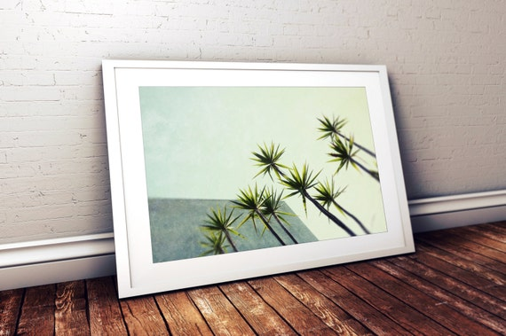 mid century modern // minimalist wall art // botanical photography - Palms I, 16x24 photography print
