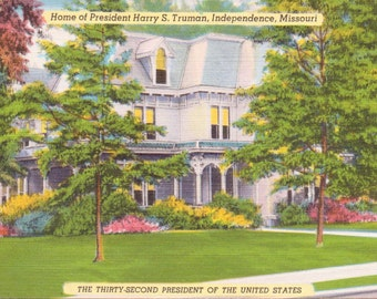 Independence, Missouri, President Harry S. Truman, Home - Linen Postcard - Unused (A10)