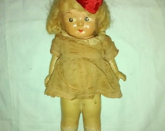 Valentine SALE Antique Kewpie , Carnival Doll , 1930's Googly Eyes