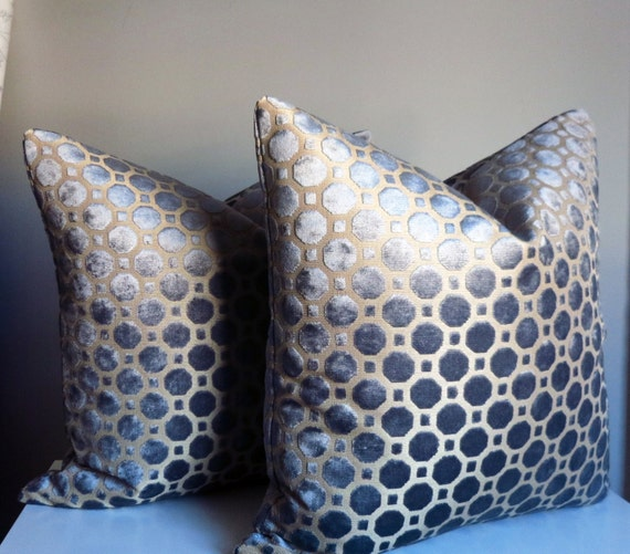Small Gray Decorative Pillow : Grey Velvet Pillow Cover Grey Pillow Decorative Pillow