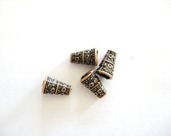 Copper Findings, Copper Cones, Jewelry Cones, Copper Cones for Bracelets, Copper Cones for Necklaces, Copper Beading Cones, Copper End Cones