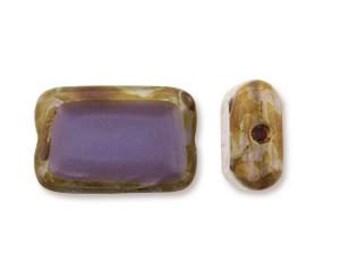12mm x 8mm Flat Rectangle, Flat Purple Glass Rectangle, Picasso Window Glass, Beveled Glass Rectangle, Travertine Glass, Opaque Purple
