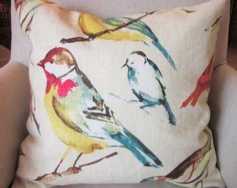 Birds Pillow Covers, Richloom Birdwatcher, Decorative Pillow Cover, Various Sizes, Handmade