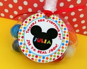 12 Mickey Mouse Clubhouse Birthday Party Favor Tags