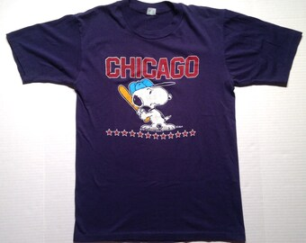 1980's Snoopy Chicago t-shirt, soft & thin, fits like a medium