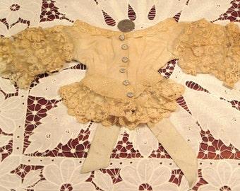 Antique Original 1870's French Fashion Doll Bodice
