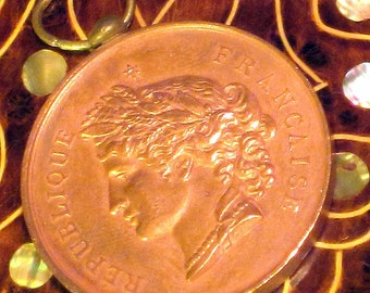 Antique French Copper Medal Circa 1885