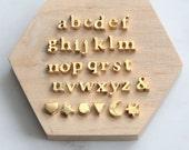 Alphabet Bead, Alphabet Charm, Gold Letter Charm, 24K Gold Letter Bead, Lowercase Letter Charm, Initial Charm, Letter Alphabet Beads, 7mm