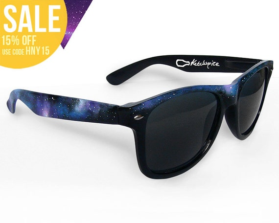 Galaxy hand painted sunglasses - Space Nebula Cosmic Custom Wayfarer style sunglasses '80s retro