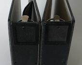 vintage notebooks, 3 ring binder, exposed hinges, label holder, black from Diz Has Neat Stuff